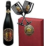 Luxus Sekt Geschenk für Paare | Only for us Geschenkset Sekt-Cuvée | inkl. 2 schwarzer Champagnergläser aus Acryl | Das Luxusgeschenk für Frau, Freundin, Paare, Pärchen & Liebende | limitiert auf 2.500 Flaschen | Für frisch Verliebte und beste Freunde