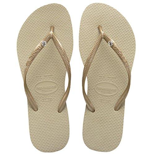 Fino Para Encanto Dourada Flip Mulheres Cristal Havaianas De Flops Sandgrey Luz q6wXnEYYT