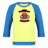 Clifton Baby Boys Raglan Printed Full Sleeve T-shirts -Lime Green-Royal Blue-American Pride -12-18 Months Amazon