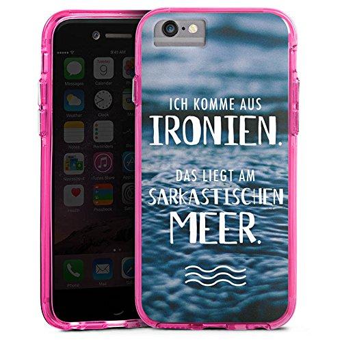 Apple iPhone X Bumper Hülle Bumper Case Glitzer Hülle Spruch Humor Statement Bumper Case transparent pink