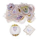 D DOLITY 60 Stück Sticker Mix Sticker/Aufkleber - 1#, 3-11cm