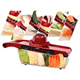 JOYIYUAN Vegetable Chopper 6 Blade Adjustable Vegetable Potato Onion Slicer Set Dicer Food