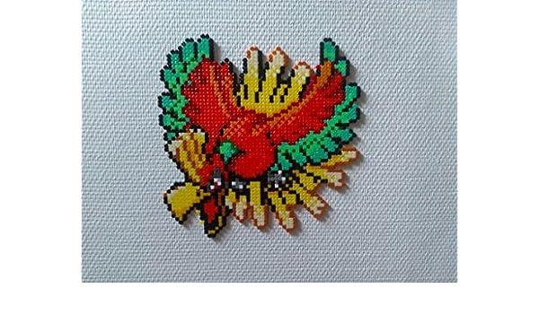 Sprite Ho Oh Légendaire Pokemon Hama Beads Pixel Art