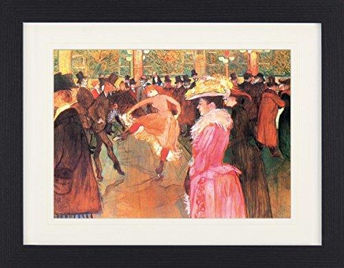 1art1 113674 Henri De Toulouse-Lautrec - Tanz Im Moulin Rouge, 1890 Gerahmtes Poster Für Fans und Sammler 40 x 30 cm