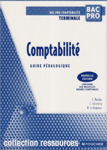 Comptabilité Terminale Bac pro : Guide pédagogique (Ancienne Edition)
