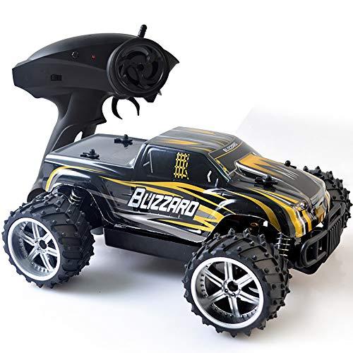 Amyitis 2.4G Fernbedienung Offroad-Hochgeschwindigkeits-Auto, 1:16 Aufladung Spielzeugauto Offroad-Klettern Rennwagen-Modell,Yellow
