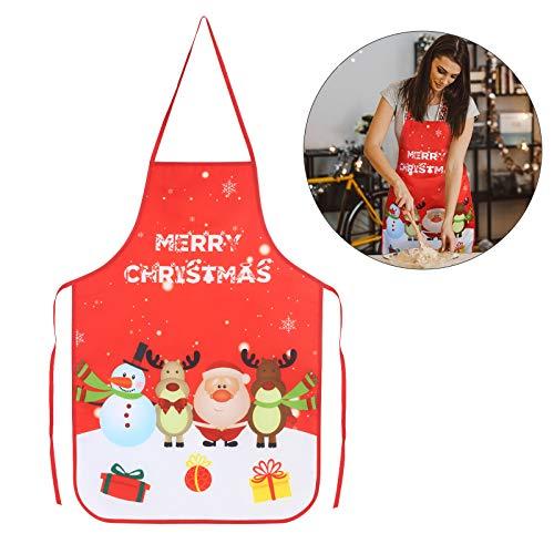 KATOOM Delantales Navidad Rojo 1pcs Delantal decoración