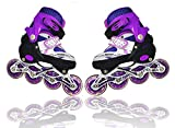 Abhsant Sports Adjustable Inline Skates for Kids with 8 Illuminating Wheels, Safe