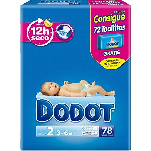 Dodot – Pañales 3-6 kg, 78 unidades
