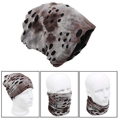 Xcellent Global Cache nez, tour de cou, bonnet, écharpe de cou, cagoule pour rester au chaud l'hiver, Unisexe, Gris SP049