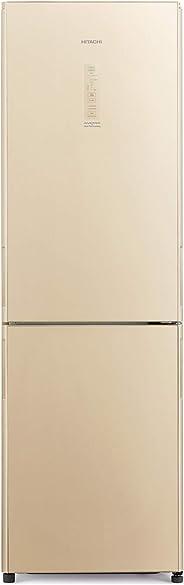 Hitachi 410 Liters Bottom Freezer Refrigerator, Glass Beige - RBG410PUK6XGBE