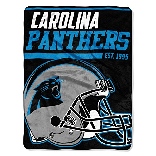 y NFL Carolina Panthers 40-Yard Dash Micro Raschel Überwurf Plüschdecke 117 x 152 cm , Panther Blau ()