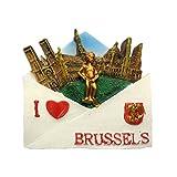 UmerBee Imanes para Nevera de Las Ciudades Nacionales de Bruselas, imanes de Oficina para Decoración de Coche