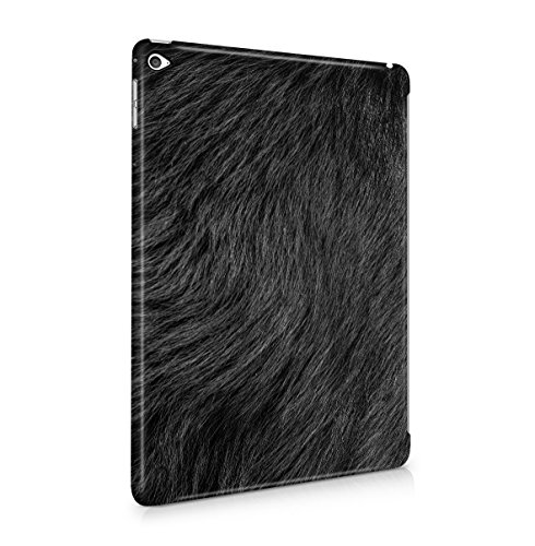 Animal-print Ipad Case (Black Animal Fur Pattern Dünne Tablet Handy Schutzhülle Hardcase Aus Hartplastik Hülle für iPad Air 2 Case Cover)