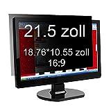 Xianan Widescreen Blickschutzfilter Blickschutzfolie Privacy Screen Folie Blickschutz Sichtschutz für 16:9 Laptops Notebooks Sichtschutzfolie