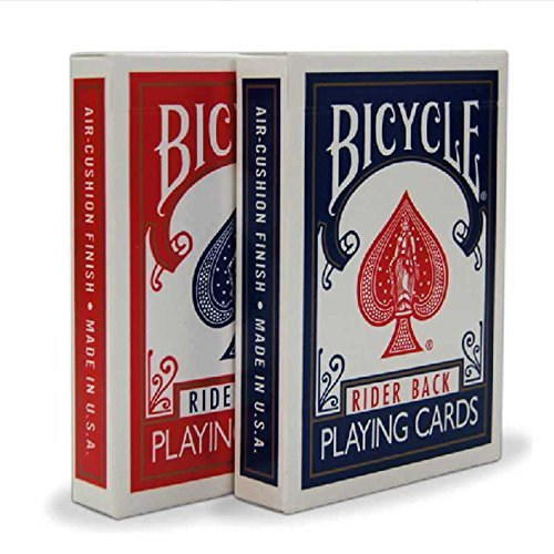 Preisvergleich Produktbild 2 Decks Bicycle Rider Back 808 Standard Poker Playing Cards Red & Blue by Bicycle