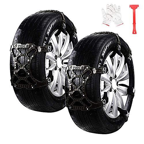 WeyTy Auto Schneeketten, 6pcs Anti Schnee Anti-Rutsch Ketten Universal Reifen Schneekette für Auto SUV LKW Reifenbreite mit 7