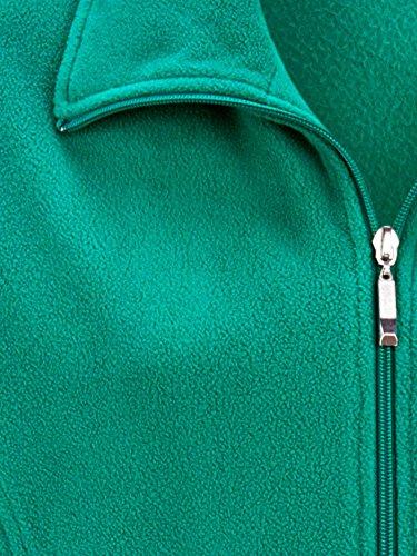 Damen Fleecejacke innen angenehm weich by MIAMODA Smaragd