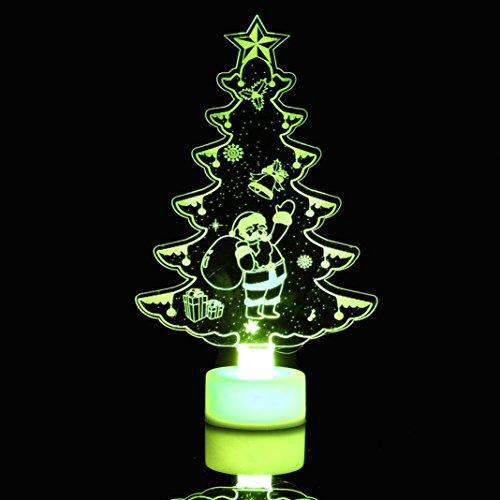 Faux Twin-set (HKFV Schmetterling Nacht Licht kann LED dekorative Wand Lampe einfügen LED bunte Faser Acryl kleiner Weihnachtsbaum Weihnachtsschneemann LED colorful fiber Acrylic small Christmas (C))