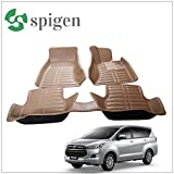 #10: SPIGEN Premium 5D Car Floor mats for Toyota Innova Crysta Beige