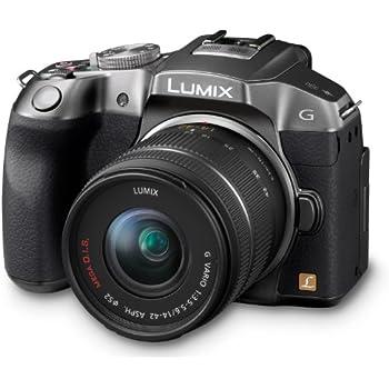 Panasonic Lumix DMC-G6KEG-S Systemkamera (16 Megapixel, 7,6 cm (3 Zoll) Touchscreen, WiFi, NFC) mit Objektiv Lumix G Vario F3,5-5,6/14-42 Asph./OIS titan-silber