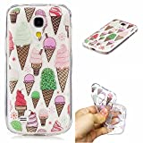 Cozy Hut Samsung Galaxy S4 Mini Handyhülle, Crystal Clear Durchsichtig Soft Silikon TPU Ultra Dünn Stoßfes Kratzfest Weich Back Bumper Case Cover Hülle für Samsung Galaxy S4 Mini - EIS