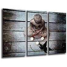 Cuadro Moderno fotografico base madera, 97 x 62 cm, Buda, Buddha, Relajacion, Relax, Zen ref. 26141