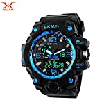 #7: Vilam Analogue-Digital Blue Dial Mens Watch-Skm1155Blue