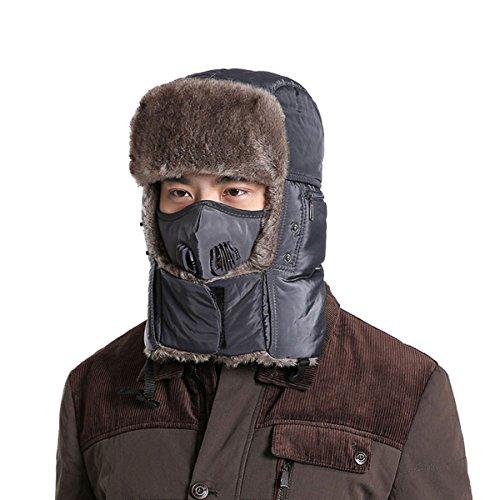 Les Hommes Et Les Femmes Coréennes Earmuffs Hiver Au Chaud, Plus Velours épais Vent Froid Bonnet De Ski gray