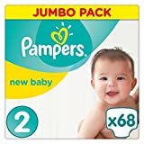 Pampers - New Baby - Couches Taille 2 (3-6 kg) - Jumbo Pack (68 couches)