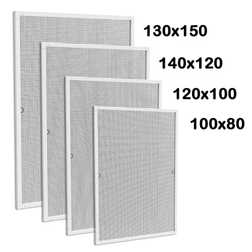 Alu-Rahmen Fenster-Fliegengitter Insektenschutz Fenster Mückengitter Moskitonetz 80 x 100 cm
