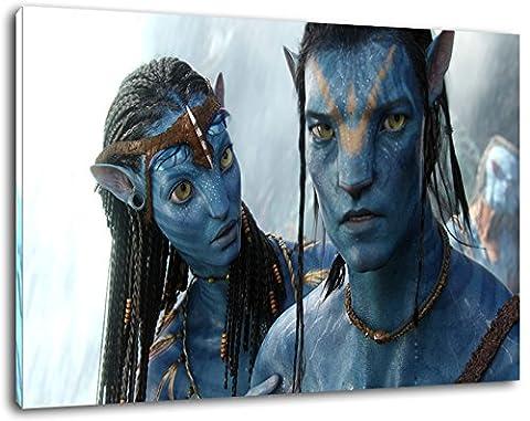 Avatar Format 100x70 cm Bild auf Leinwand, XXL riesige Bilder fertig gerahmt mit Keilrahmen, Kunstdruck auf Wandbild mit