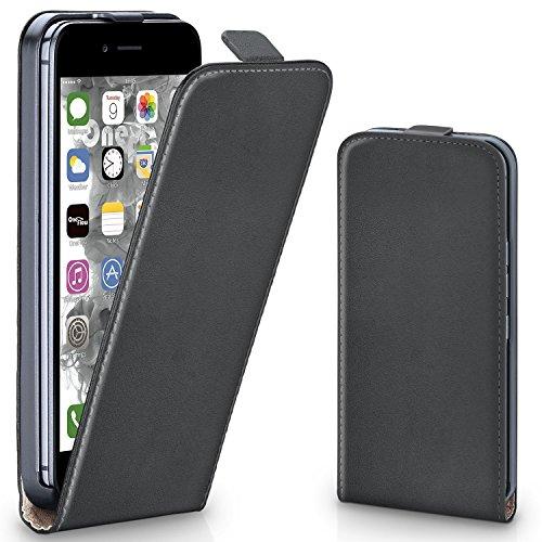 OneFlow Tasche für iPhone 7 Plus Hülle Cover mit Magnet   Flip Case Etui Handyhülle zum Aufklappen   Handytasche Handy Schutz Bumper Schutzhülle mit Schale in Hellgrün ANTHRACITE-GRAY