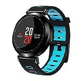 Flying Hedwig Smart Watch Bluetooth Sportuhr M10 Senioren Blutdruck Gesundheit ,Schrittzähler, Schlafanalyse , Smart Wear (Blau)