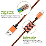 Micro USB Cable Yosou USB Charger Cable[3Pack 1M/3.3ft] Nylon Braided USB Cable High Speed Fast Android Charging Cables for Samsung, Nexus, LG, Motorola, Nokia and More-Blue, Green, Orange Bild 3