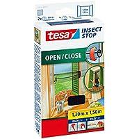 tesa® Insect Stop Fliegengitter für Fenster zum Öffnen und Schließen, durchsichtig, 1,3m x 1,5m