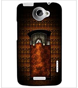 PrintDhaba Cartoon D-4924 Back Case Cover for HTC ONE X (Multi-Coloured)