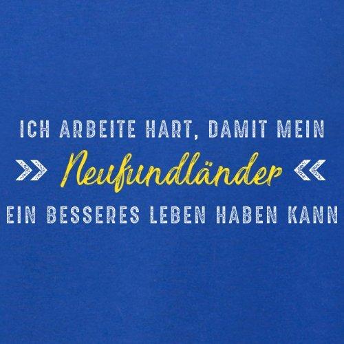 Ich arbeite hart, damit mein Neufundländer ein besseres Leben haben kann - Herren T-Shirt - 12 Farben Royalblau