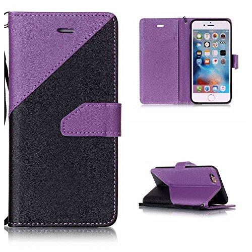 Voguecase Pour Apple iPhone 6/6s 4,7 Coque, Étui en cuir synthétique chic avec fonction support pratique pour iPhone 6/6s 4,7 (couleurs mélangées IV-Violet clair)de Gratuit stylet l'écran aléatoire un couleurs mélangées IV-Violet