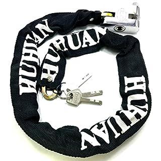 TriEcoWorld Motorcycle Motorbike Bike Bicycle Cycle Security Chain Lock PadLock Anti-Theft Chain Lock 100cm (1metre)