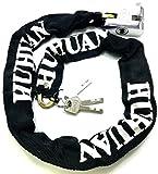 TriEcoWorld Motorrad Fahrrad Sicherheit Kette Lock Vorhängeschloss 100cm (1 Meter)
