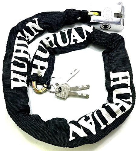 Triecoworld catena robusto per motocicletta/bicicletta, catena di sicurezza con lucchetto 100cm (1 metro)