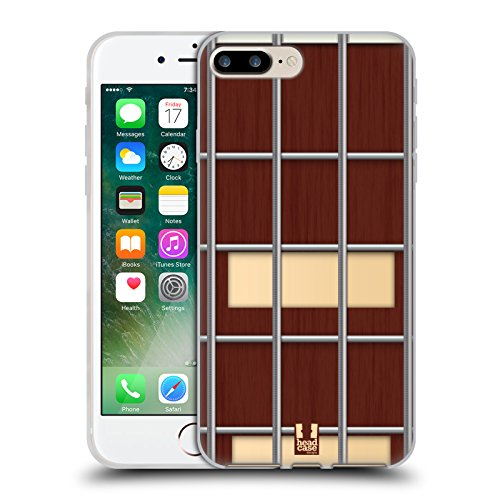 Head Case Designs Plettro Problemi Di Chitarra Cover Morbida In Gel Per Apple iPhone 7 / iPhone 8 Noce