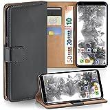 MoEx Samsung Galaxy S8 Hülle Dunkel-Grau mit Karten-Fach [OneFlow 360° Book Klapp-Hülle] Handytasche Kunst-Leder Handyhülle für Samsung Galaxy S8 Case Flip Cover Schutzhülle Tasche