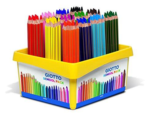 Giotto pastelli mega schoolpack 108 pz 9 x 12, colori assortiti, 5235 00