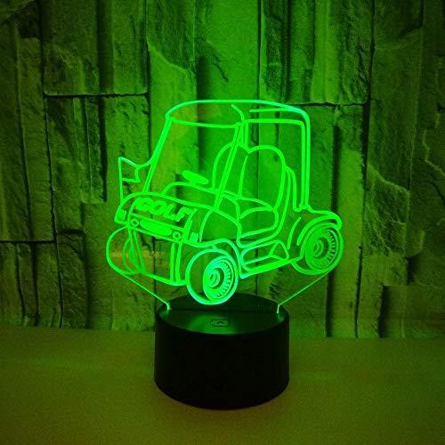 LLXPDZ 3D Nachtlicht Golf Cart Touch Geschenk Bunte Tischlampe Dekorative Lampe Für Kinderzimmer