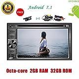 """Caméra sans fil gift.6.2"""" Universal 2 Go de RAM 32GB ROM Android 7.1 GPS système de navigation automobile de voiture Bluetooth stéréo Unité principale, Soutien WIFI, Bluetooth, MirrorLink, DVD, CD ..."""