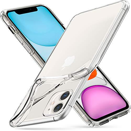 Spigen Liquid Crystal Kompatibel mit iPhone 11 Hülle, Transparent TPU Silikon Handyhülle für iPhone XI Case Crystal Clear 076CS27179