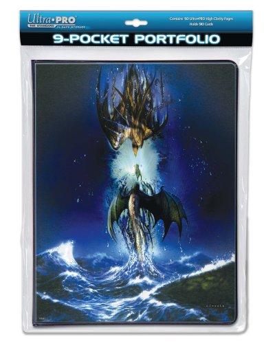 """Cahier range-cartes 180 cartes Ciruelo """"Dragons entre ciel et mer"""" pour pokemon, yu gi oh, redakai, magic, et autres cartes à jouer"""