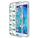 Eouine Coque Samsung Galaxy A3 2017, Etui Silicone 3D Transparente avec Motif...